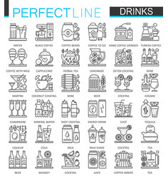 Drinks outline concept symbols perfect thin line vector