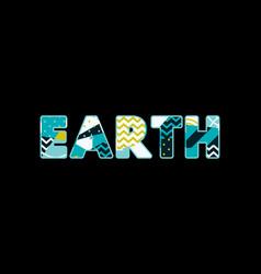 Earth concept word art vector