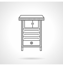 Electrical furnace flat line icon vector image