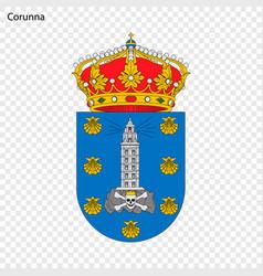 Emblem corunna city spain vector