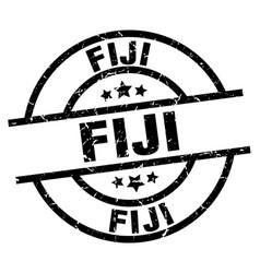 Fiji black round grunge stamp vector