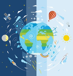 Flat weather conditions vector