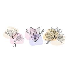 floral pouring art geometric minimalistic print vector image