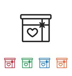 giftbox icon vector image