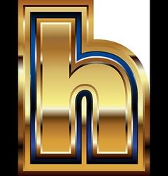 Golden Font Letter h vector image