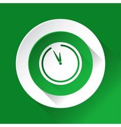 Green circle shiny icon - last minute clock vector