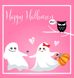 halloween background with boo and happy halloween vector image