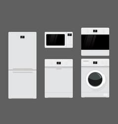 Home appliances flat design vector