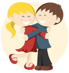 Hugging Kids vector image
