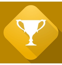 Icon of Cup with a long shadow vector