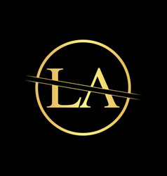 Initial la letter logo design template abstract vector