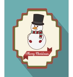 Kawaii snowman of Christmas season vector
