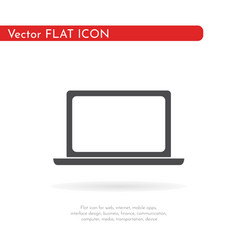 laptop icon flat design style vector image