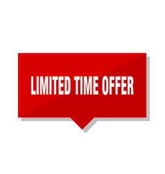 Limited time offer red tag vector