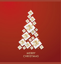 Merry christmas golden glitter background vector