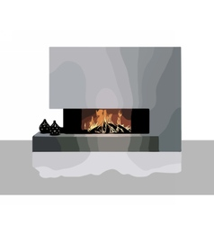 Modern Fireplace vector