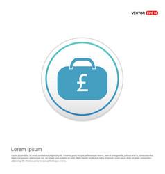 money bag icon - white circle button vector image