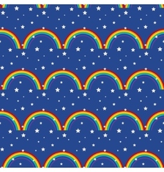 Night sky kid seamless pattern vector image
