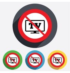 No widescreen tv sign icon television set vector