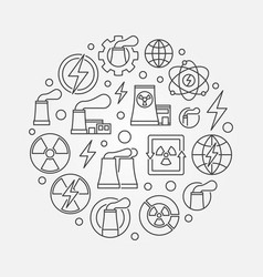 nuclear power outline vector image