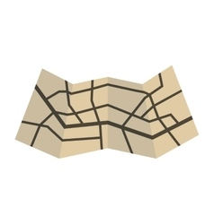 paper map icon image vector image