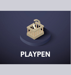 playpen isometric icon isolated on color vector image