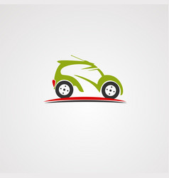 remote car on street logo icon element and vector image