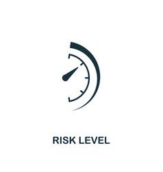 Risk level icon creative element design from risk vector