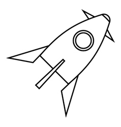 Rocket for space flight icon outline style vector