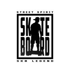 skateboard street style t-shirt design vector image