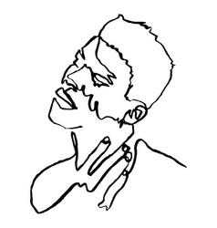 sketchy single line drawing a sensual man vector image