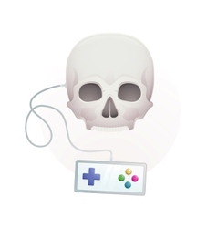 skull with a gamepad vector image