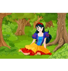 Snow White Girl vector image