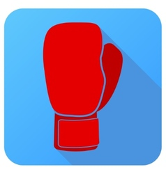 Sport icon with boxing gloves in flat style vector image