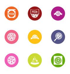 tart icons set flat style vector image