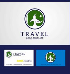 Travel pakistan creative circle flag logo vector