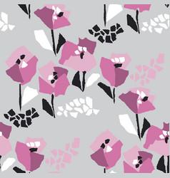 Tulip blossom hand drawn seamless pattern vector