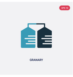 two color granary icon from miscellaneous concept vector image