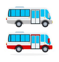 urban minibus flat isolated vector image