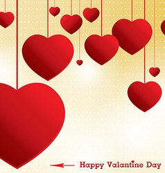 Valantine Day on yellow background vector image