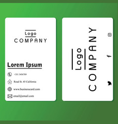 vertical business card 0002 vector image