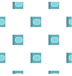 White plastic paper clips in container pattern vector