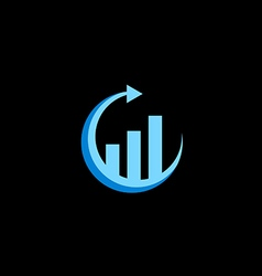 business finance arrow chart logo vector image