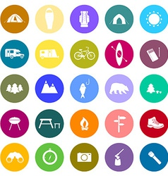CampingIcons2 vector image vector image