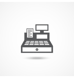 Cash Register Icon vector image vector image