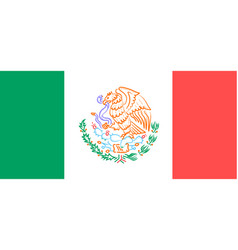 flag with the emblem of mexico vector image