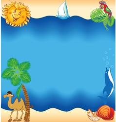 Sea travel concept vector image