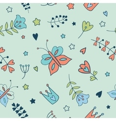 Seamless floral pattern Spring vector image