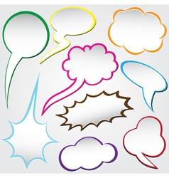 speech bubble dialog vector image vector image