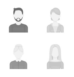 A man with a beard and mustache a red-haired girl vector